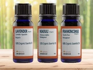 3-Set Power Oils: Organic  Frankincense, Lavender & Niaouli