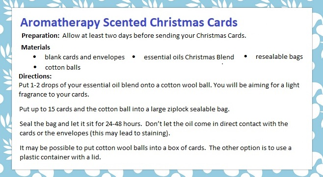 Aromatherapy Scented Christmas Cards