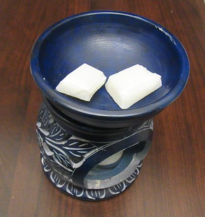 Blue Handmade Soapstone Oil/Melt Burner