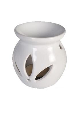 Leaf White Ceramic Oil/Melt Burner